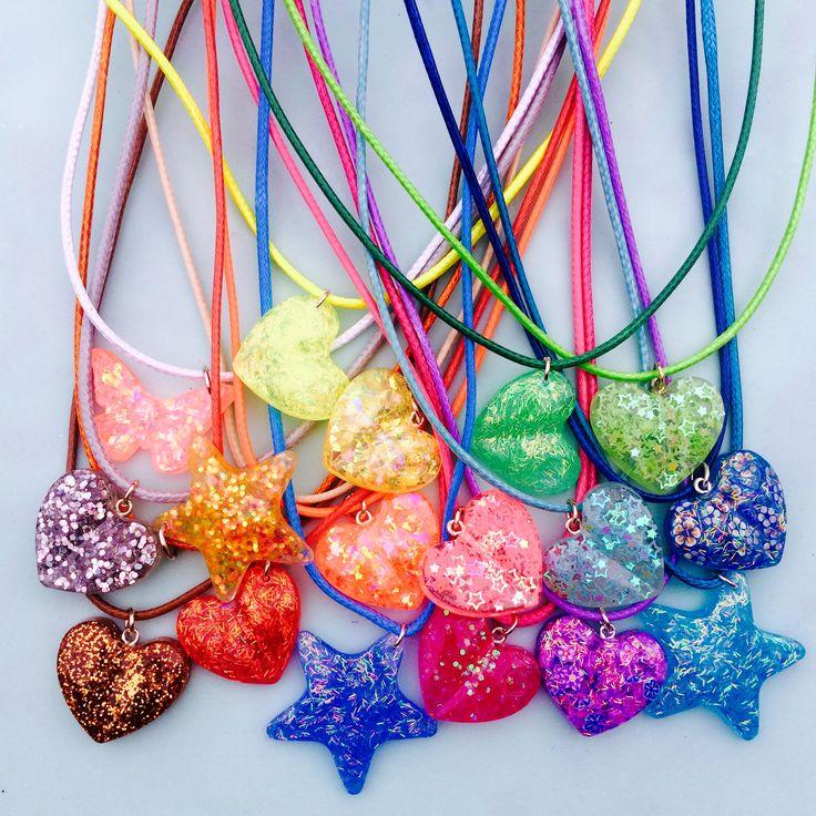 Poxierocks Resin rainbow heart star butterfly summer colorfull