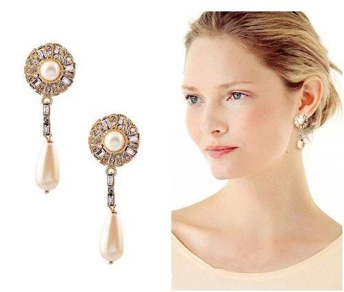 Hot-Fashion-Charming-Charm-Crystal-Flower-Drop-Dangle-Stud-Earrings