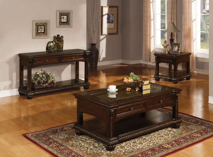 Acme Furniture Anondale Traditional Coffee Table Set in Cherry . - 528 Best Furniture: Accent And Occasional Tables Images On