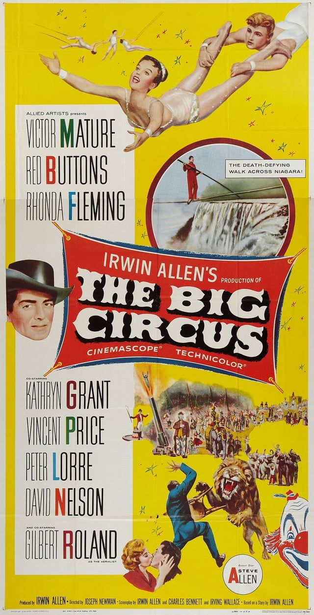 The 1959 film starring Victor Mature as a circus owner struggling with financial trouble and a murderous unknown saboteur. It was produced and co-written by Irwin Allen, later known for a series of big-budget disaster films.