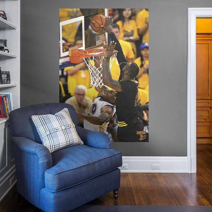 Cleveland Cavaliers LeBron James 2016 NBA Finals Wall Decal by Fathead, Multicolor