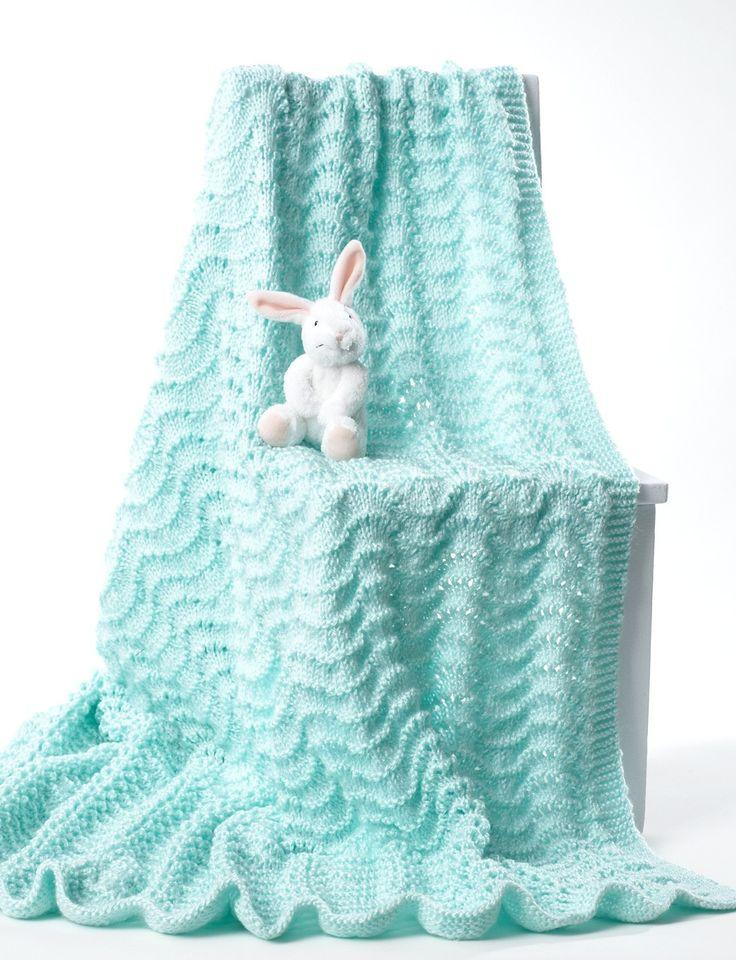 Easy Knit Lace Blanket : Best 25+ Easy knit baby blanket ideas on Pinterest Easy ...