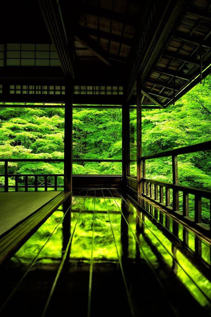 京都瑠璃光院 Ruriko-in Temple, Kyoto, Japan by Hisanori Manabe #緑 #Green #Japan