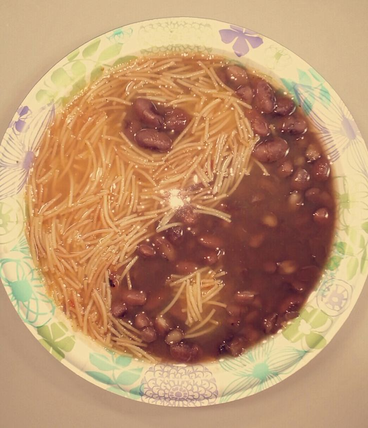 Sopa de Fideo & Frijoles de la Olla. I was craving Chinese food soooo this happened. Problem solved! [1045x1214] - Click the PIN to see more!