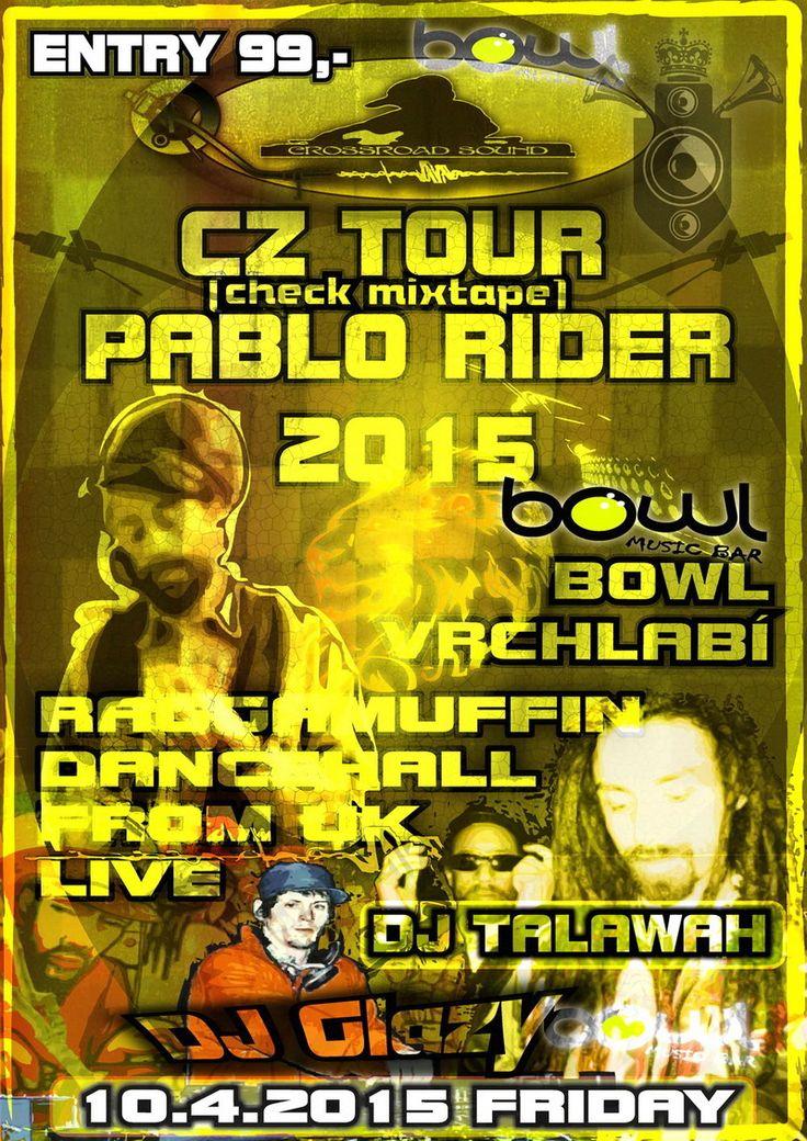 Plak PABLO RIDER CZ TOUR 2015