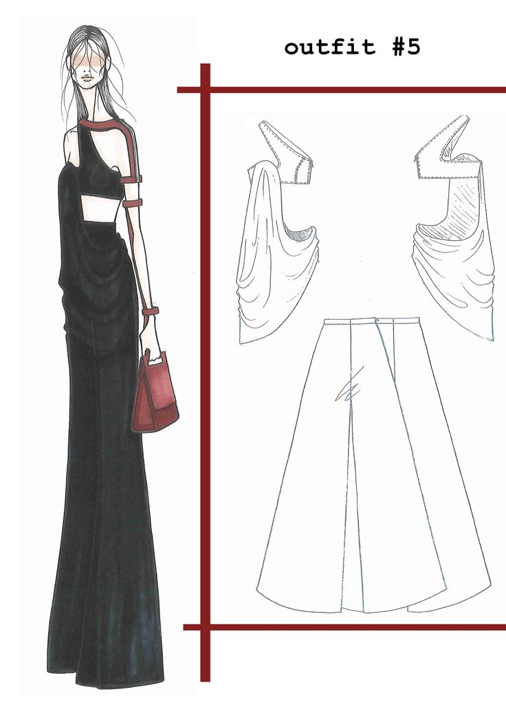 Fashion Sketchbook - fashion illustration & flats; fashion student portfolio // Ilaria Fiore