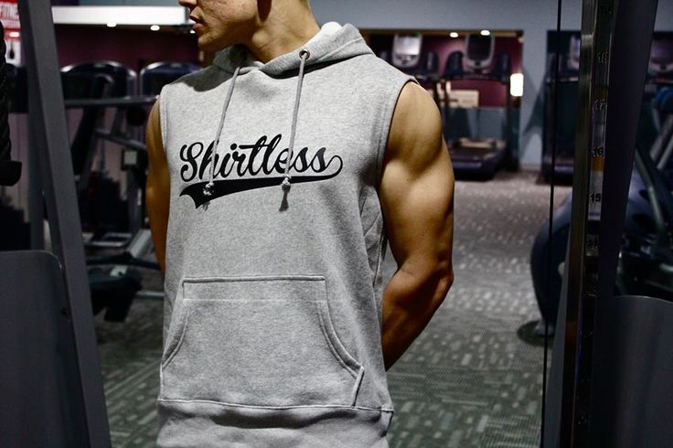 Keep Warm this Winter • Shirtless Sleeveless Hoodies  #mens #fashion #gym #wear #bodybuilding