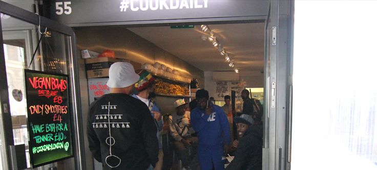 Cook Daily: Vegan food outlet in unit 55 of BoxPark, Shoreditch, London.