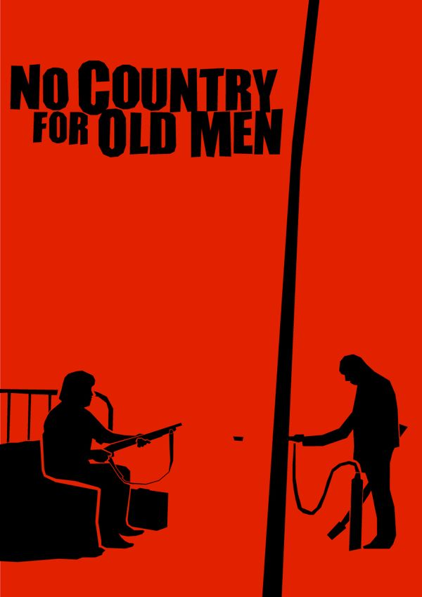 No Country for Old Men - Minimalist Saul Bass influenced movie posters by Lewis Varty, via Behance