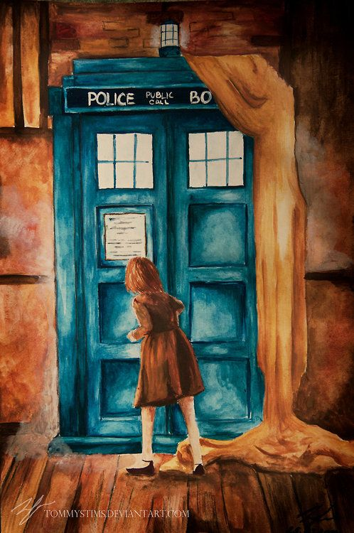 Lucy discovering the TARDIS. I LOVE THIS SO MUCH. Lucy would be an awesome companion