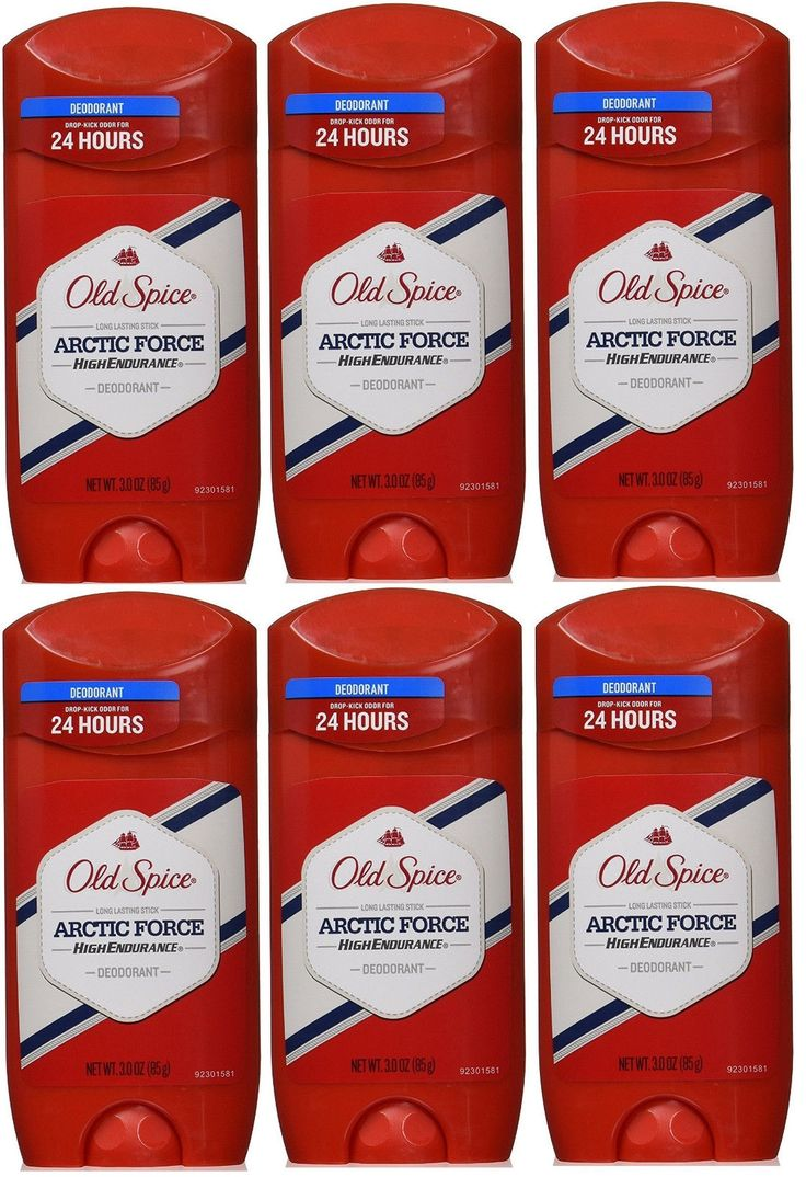 Other Health and Beauty: Lot Of 6 Old Spice High Endurance Arctic Force Scent Mens Deodorant 3 Oz -> BUY IT NOW ONLY: $39.89 on eBay!