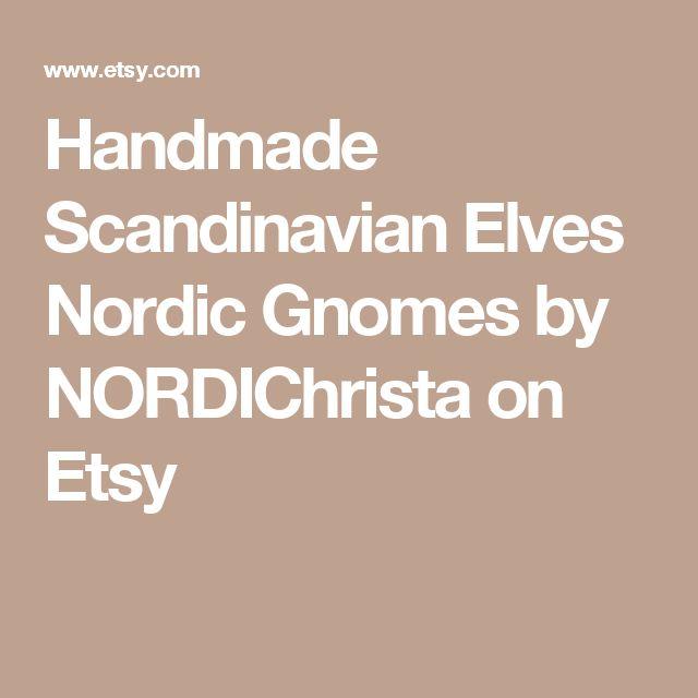 Handmade Scandinavian Elves Nordic Gnomes by NORDIChrista on Etsy