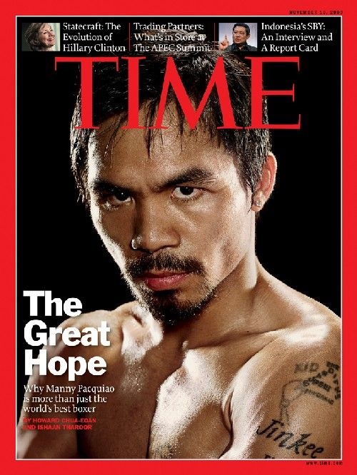 Manny Pacquiao. World champion boxer, singer, born in poverty, member of Filipino Parliament, humanitarian...