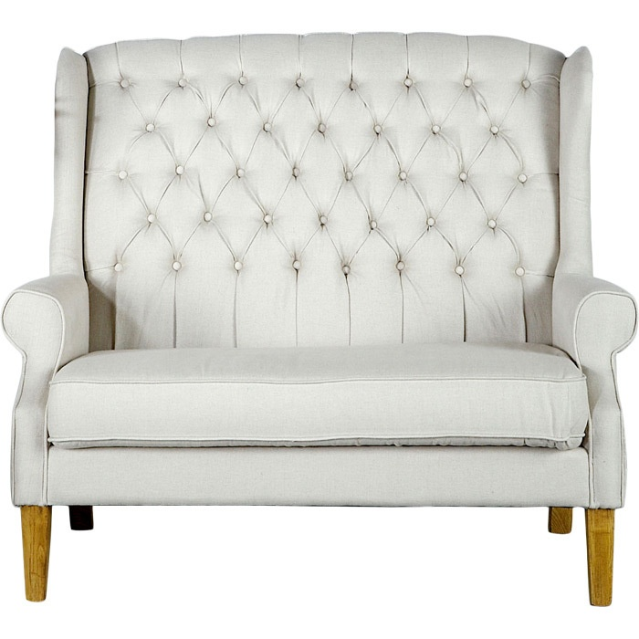 Tufted High Backed Loveseat If Only This Would Fit In My Living Room High Back Living Room