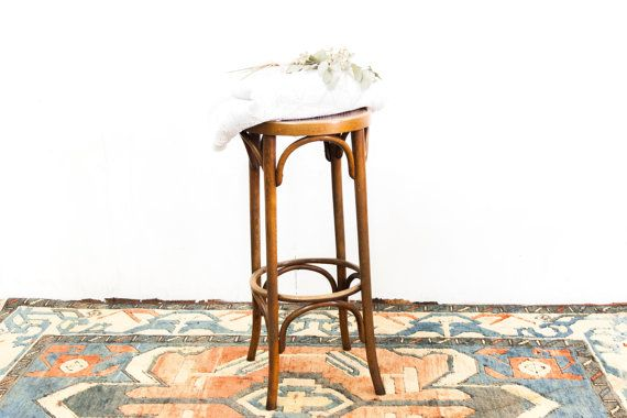 English Bent Wood Tall Stool by TheParsonsPleasures on Etsy