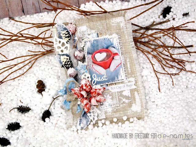 Freetany: Winter card. Tutorial