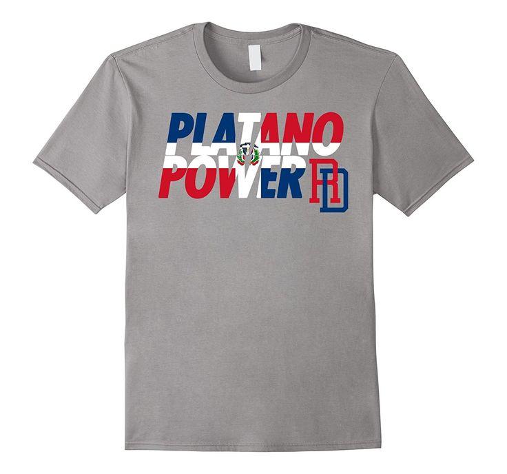 DOMINICAN REPUBLIC BASEBALL TEAM SUPPORT SHIRT PLATANO POWER