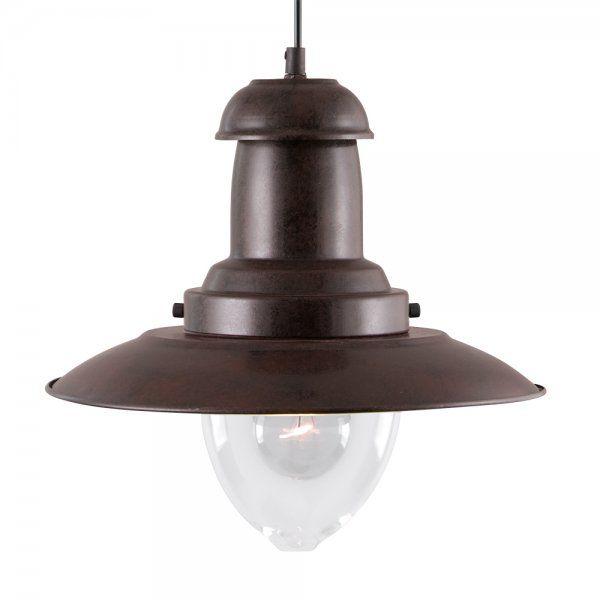Searchlight 4301RU | Fisherman 1 Light Rustic Brown Ceiling Pendant