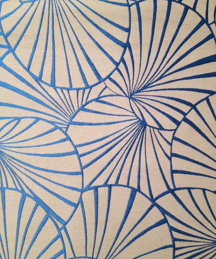 Tissu art déco Nymphéas Thévenon 36€ livraison offerte : Tissus Ameublement par kamea