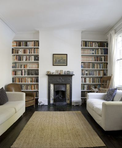 Fireplace bookshelves...need to update our living room situation