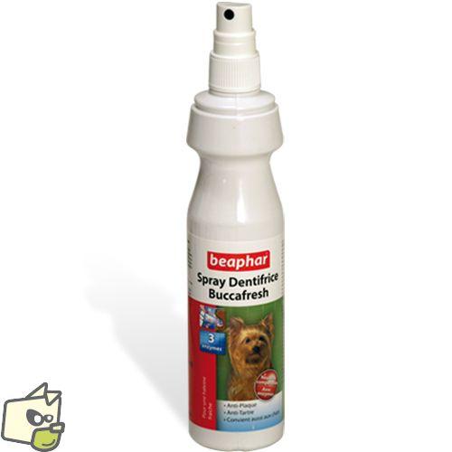 DENTIFRICE EN SPRAY pour chien & chat - 10.20e -Dentifrice a vaporiser pour lutter contre le tartre et les animaux a mauvaise haleine.  -nombreux sont les chiens et chats qui ne se laissent pas brosser les dents, avec ce spray il suffit d'une pulvérisation par jour pour lutter efficacement contre le tartre et protéger les gencives. Ce dentifrice pour animaux en spray élimine également la mauvaise haleine et prévient la plaque dentaire grâce au fluor