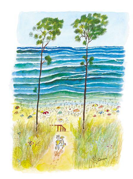 Sempé - Sur le chemin de la plage