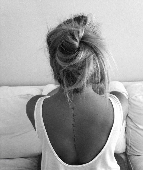Best 25 spine tattoos ideas on pinterest tattoos on for Tattoo hair line