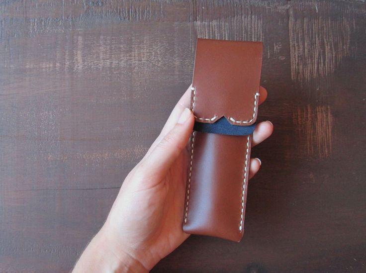 Leather Pen Holder//
