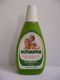 Haha,damals gab's alles mit Apfel,nicht nur shampoo....