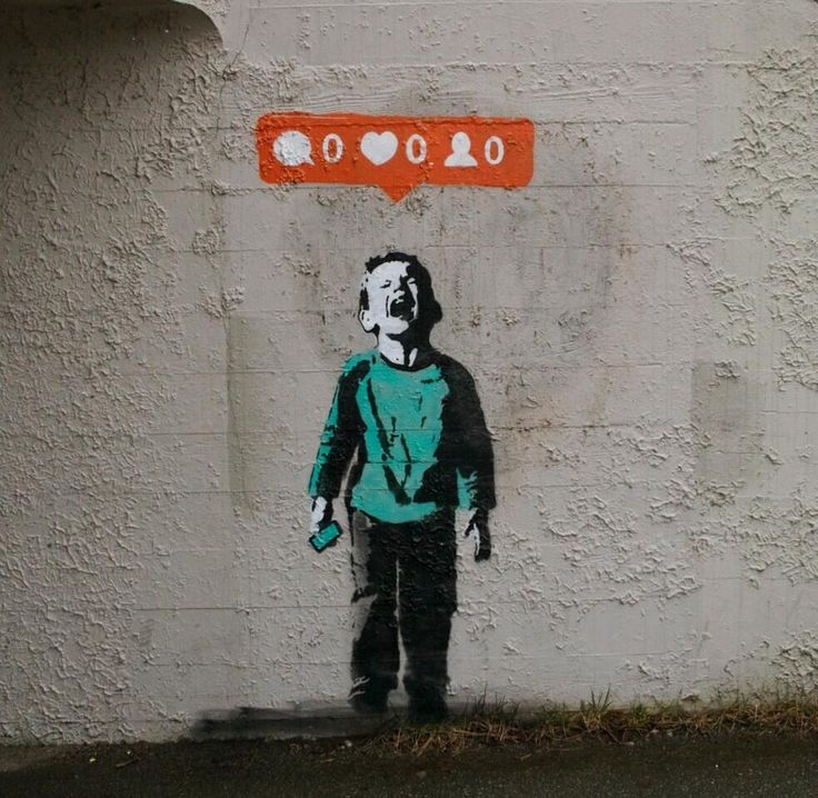 This Clever New Street Art Gently Mocks Social Media Addicts via TheAtLanticCities