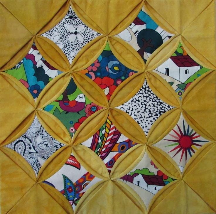47 Best Cathedral Windows Quilts Images On Pinterest