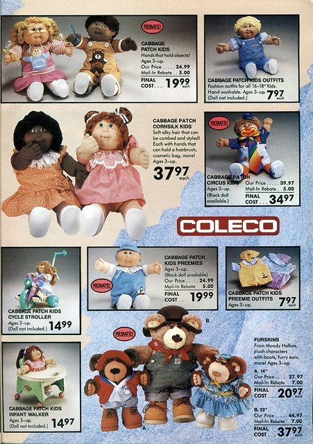 """Cabbage Patch, 1986-xx-xx Toys """"R"""" Us Toy Book P009 by Wishbook, via Flickr"""