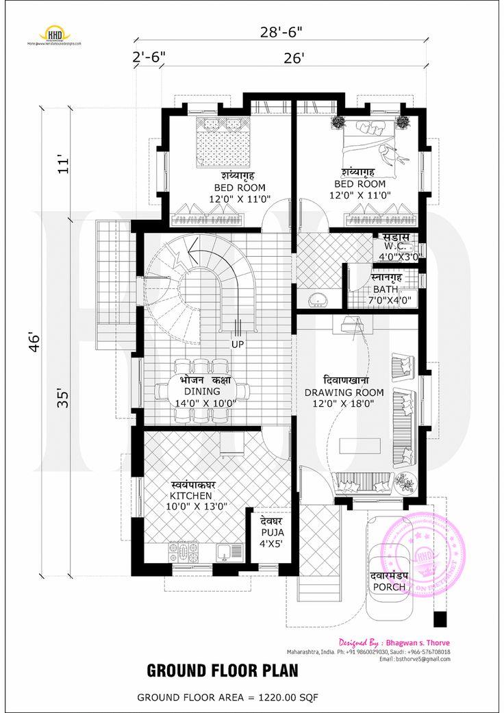 Free floor plan of 2365 sq ft home designs indian - Free floor plan designer ...