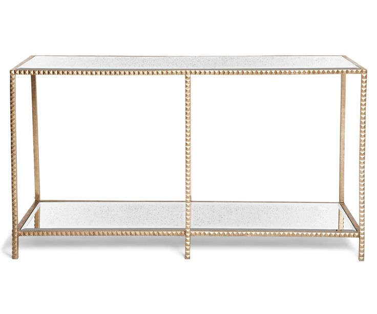 Rock Your Room With Our Stud Console Table. Hand Cast Pyramid Studs  Highlighted In Either