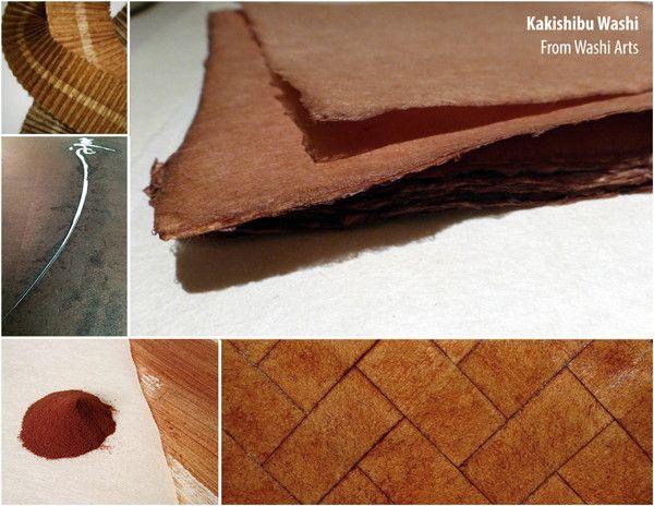 Paper of the Week: Oguni Shikishi – Kakishibu – Persimmon Treated Kozo Washi Paper from Washi Arts