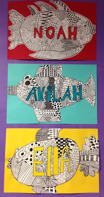 Apex Elementary Art: here fishy, fishy