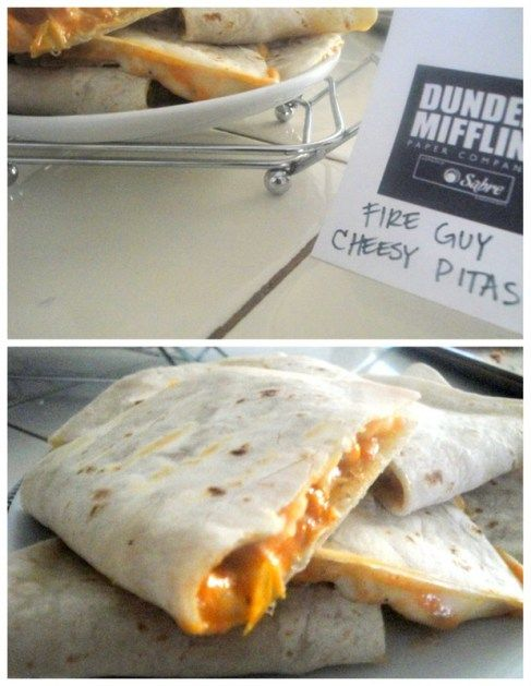 fire guy cheesy pitas for office themed party, more ideas for food follow link