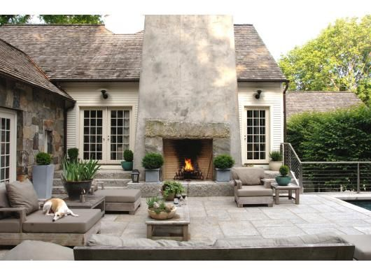 love this outdoor fireplace. Beinfield Architecture
