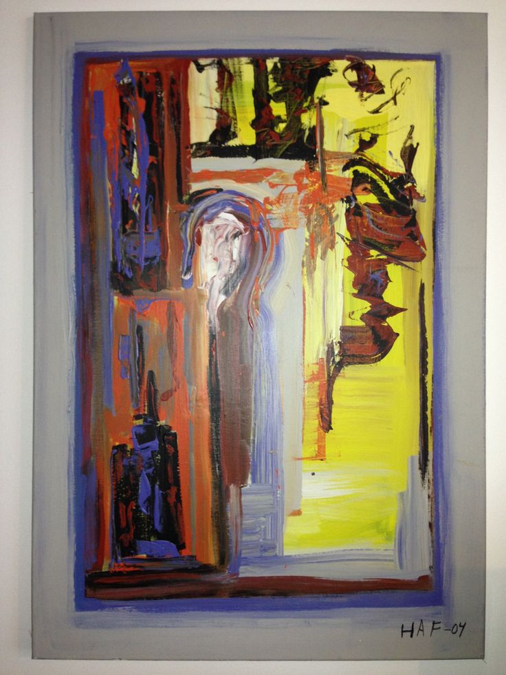Oil painting on canvas. Measures 60x90 cm. With acoustic dampening material 30mm thick.