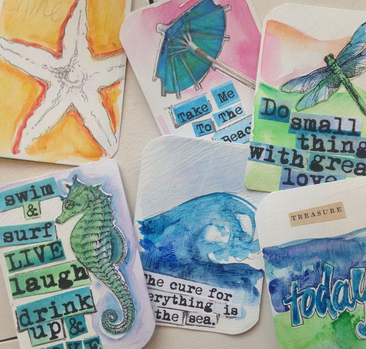 Creative classes @ www.ACleverSpark.com Playing card journaling