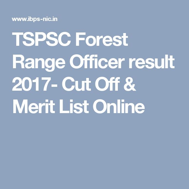 TSPSC Forest Range Officer result 2017- Cut Off & Merit List Online