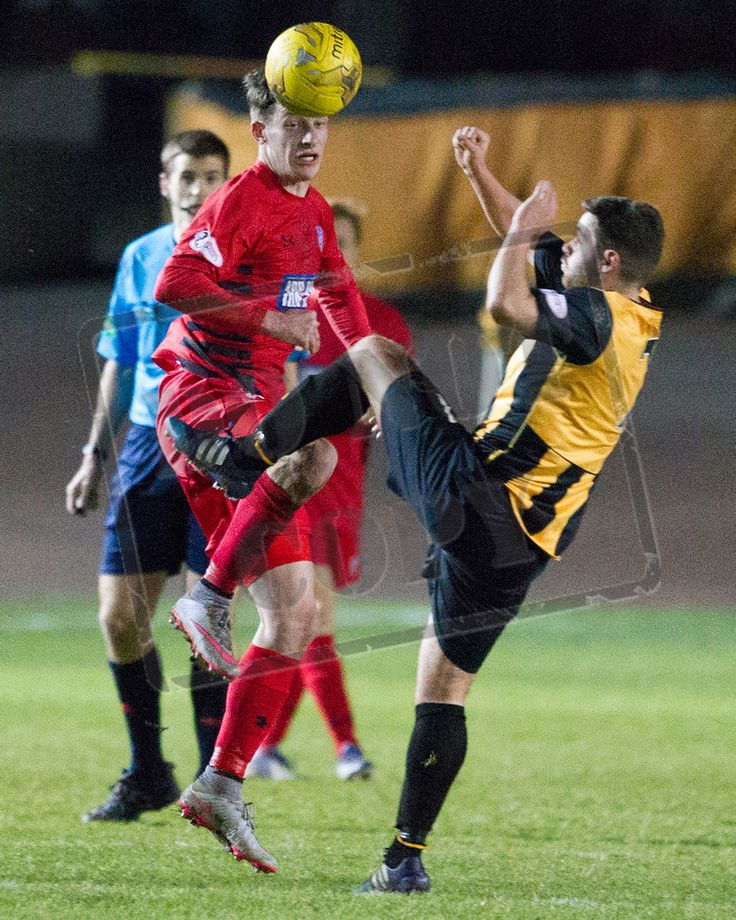 Queen's Park's David Galt heads the ball during the SPFL League Two game between Berwick Rangers and Queen's Park.