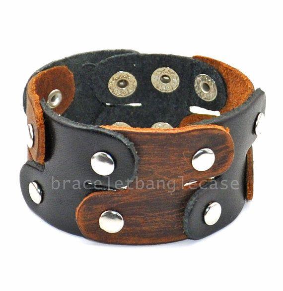 Fashion Men's charm leather bracelet in by braceletbanglecase, $8.50