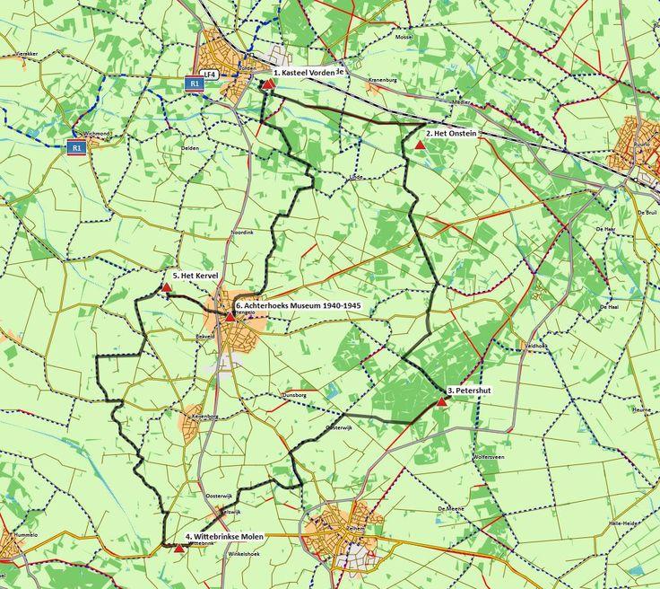 GPS-fietsroute Vorden – Hengelo (Gld.) – Zelhem (40 km) # U zoekt een fietstocht die van begin tot eind boeit? Dan is dit uw route! Prachtige fietspaden voeren u door het landelijke gebied tussen Vorden en Zelhem. De afwisseling van bos, kleinschalige landbouw en landgoederen, maakt dat deze route u steeds verrassende (ver)gezichten voorschotelt. En als het u net zo vergaat als mij, dan wordt het een fietsdag waaraan een kostbare herinnering wordt overgehouden.