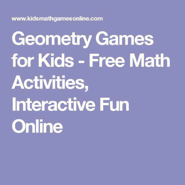 Geometry Games for Kids - Free Math Activities, Interactive Fun Online