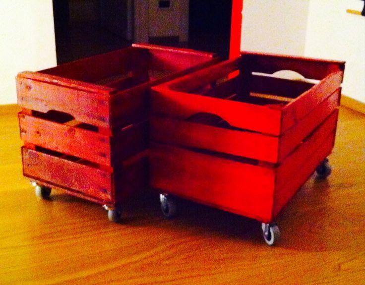 Le vecchie cassette della frutta trovate in una cascina!