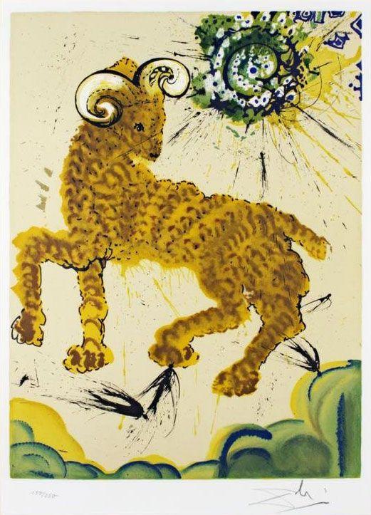 les-12-signes-du-zodiaque-par-salvador-dali-belier Les signes du zodiaque par Salvador Dali