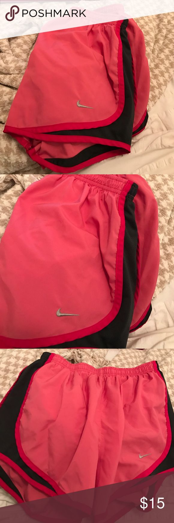 Pink Nike shorts Pink and charcoal Nike shorts - perfect condition Nike Other