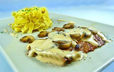 Escalope de veau et champignons à la crème