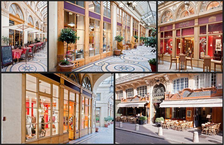 Jednou z nejkrásnějších pasáží v Paříži je Galerie Vivienne v blízkosti zahrady Královského paláce. Je také jednou z nejstarších, byla postavena už v roce 1823 v neo-klasicistním tzv. pompejském stylu podle návrhu architekta Françoise Jeana Delannoy. Pasáže nechal postavit notář Marchoux, po němž nesla krátce název Galerie Marchoux, ten byl však brzy změněn na Galerie Vivienne.